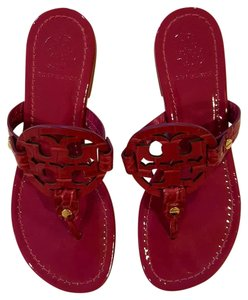 Tory Burch Patent Patent Leather Thong Fuschia Sandals