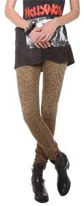 Current/Elliott Jeans The Ankle Denim Skinny Pants Leopard Print