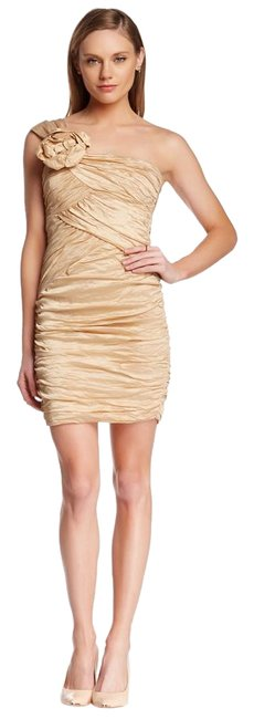 Preload https://img-static.tradesy.com/item/19756858/bcbgmaxazria-gold-bcbg-champagne-mini-night-out-dress-size-4-s-0-1-650-650.jpg