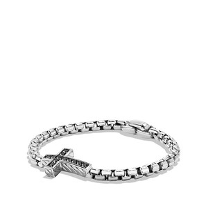David Yurman Pave Cross Bracelet with Black Diamonds