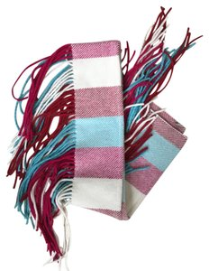 Burberry Long Checked Fringe Scarf
