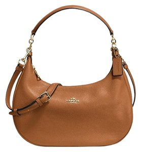 Coach F38250 East/west Leather Hobo Bag