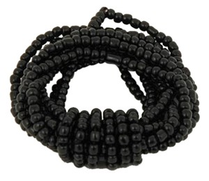 TLC Beaded Fancy Knot Stretch Bracelet - Black (Brand New)