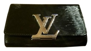 Louis Vuitton Louise Pm Leather Crossbody Black Clutch