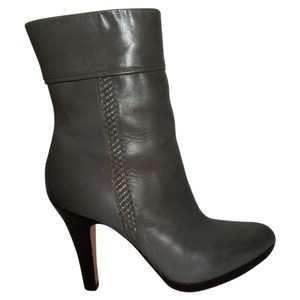 Cole Haan Platform Leather Stiletto Grey Boots