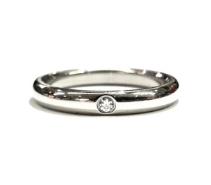 Tiffany & Co. Tiffany & Co Elsa Peretti Platinum Stacking Ring With Diamond