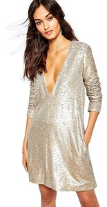 The Jetset Diaries Sequin Metallic Dress