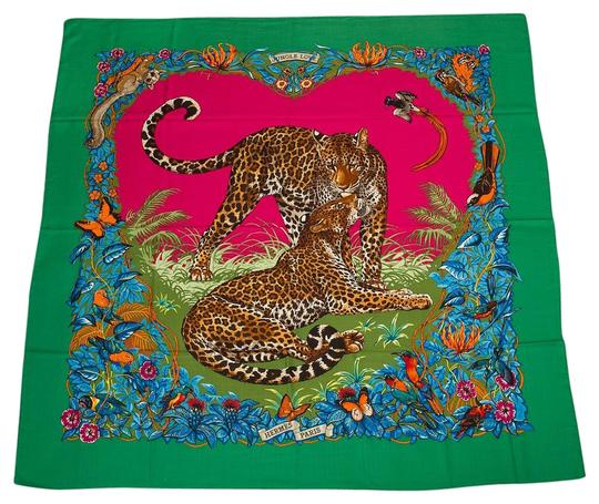 Preload https://img-static.tradesy.com/item/19757397/hermes-multicolor-jungle-love-cashmere-and-silk-shawl-140cm-scarfwrap-0-1-540-540.jpg