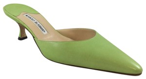 Manolo Blahnik Lime green Pumps