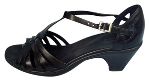 Clarks Leather Strappy Black Sandals