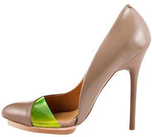 L.A.M.B. Heels Leather Tan Taupe Pumps