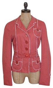 Marc Jacobs Frayed Belted Casual CORAL Blazer