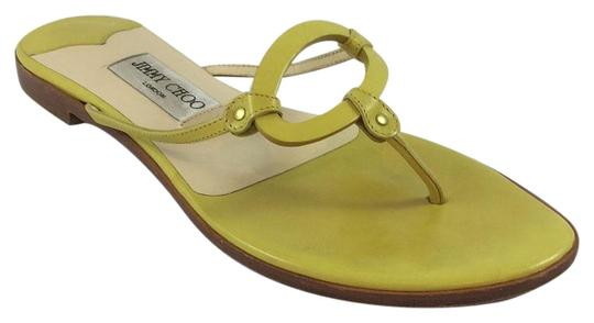 Preload https://img-static.tradesy.com/item/19757515/jimmy-choo-yellow-t-strap-sandals-size-eu-38-approx-us-8-regular-m-b-0-1-540-540.jpg