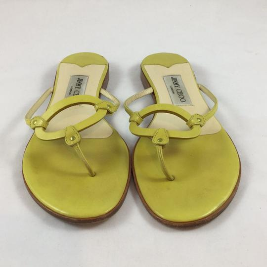 Jimmy Choo T-strap Yellow Sandals