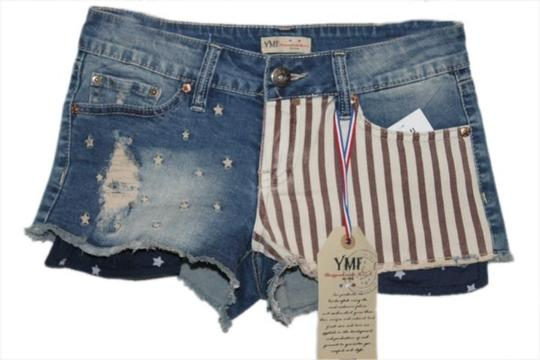 chic YMI Jeans New With Tags Size 1 Cut Off Denim Mini/Short Shorts - 56% Off Retail