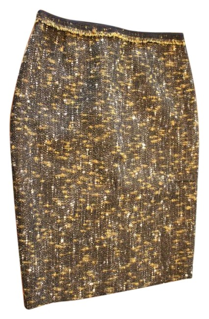 Preload https://img-static.tradesy.com/item/19757624/elie-tahari-black-white-yellowgold-tweed-bennet-skirt-size-8-m-29-30-0-1-650-650.jpg
