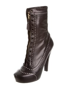 Nina Ricci Leather Ankle Boot Black Boots