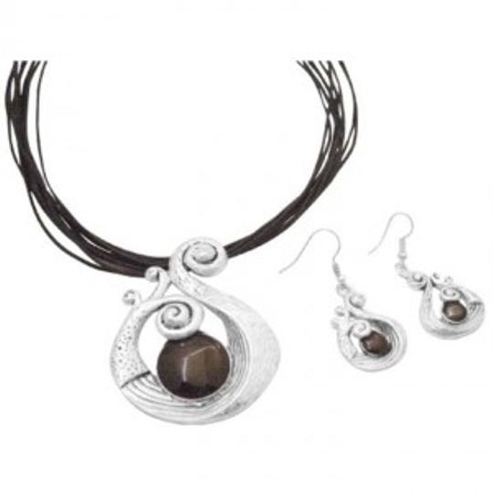 Silver Grey Stylish Sleek Ethnic Attractive Affordable Inexpensive Jewelry Set