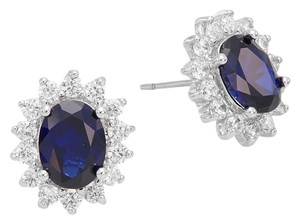 Kenneth Jay Lane sapphire and diamond earrings