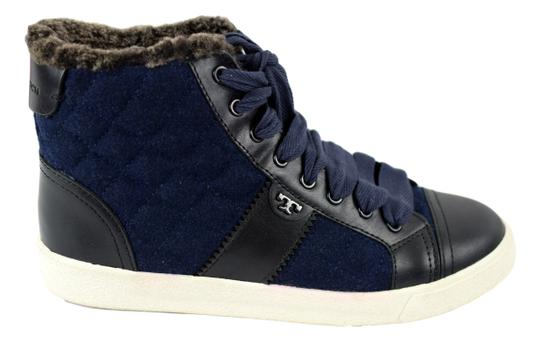Preload https://img-static.tradesy.com/item/19757733/tory-burch-navy-blueblack-oliver-flannel-high-top-sneakers-sneakers-size-us-75-0-0-540-540.jpg