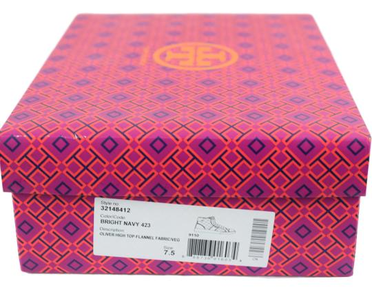 Tory Burch Sneaker Trainer High Top Flat Navy Blue/Black Athletic