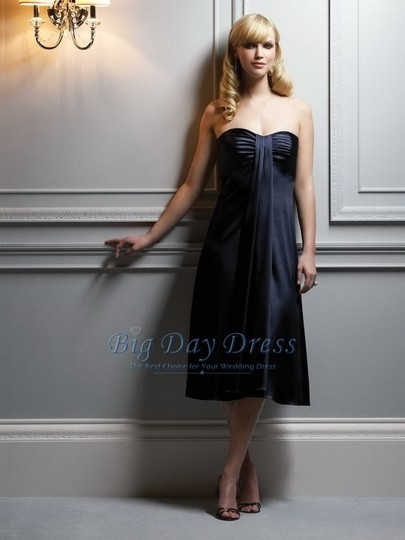 After Six Midnight Stretch Charmeuse 6543 Formal Bridesmaid/Mob Dress Size 8 (M)