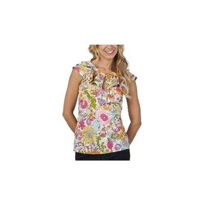 Liberty of London for Target Crepe Ruffle Keyhole Casual Top