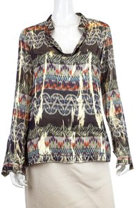 Tory Burch Silk Metallic Print Tunic