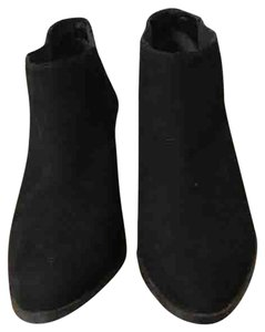 L.K. Bennett Suede Ankle Wedge Black Boots
