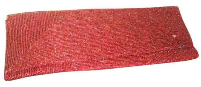 Vintage Red Beaded Clutch Vintage Red Beaded Clutch Image 1