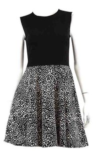 Diane von Furstenberg Dvf Cotton Animal Print Fit&flare Sleeveless Dress