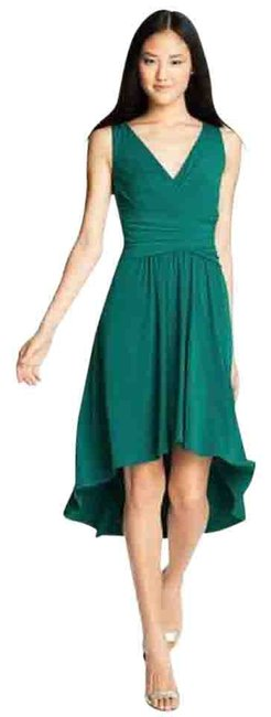 Preload https://img-static.tradesy.com/item/19757981/ivy-blu-teal-pleated-front-v-neck-midi-deep-high-low-night-out-dress-size-4-s-0-1-650-650.jpg