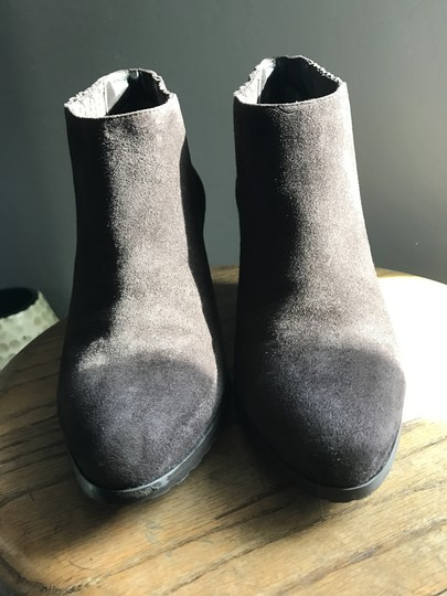 L.K. Bennett Suede Wedge Ankle Brown Boots