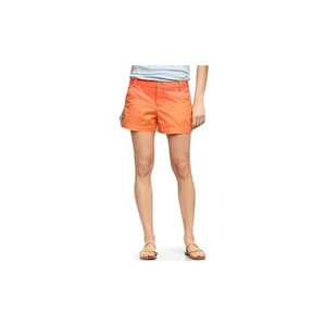Gap Ombre Drip Dyed Casual Resort Neon Cuffed Shorts Neon Orange