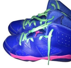 Air Jordan Royal blue,pink and green Athletic
