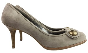 Coach Neutral Suede Fall/winter Almond Toe Taupe Pumps