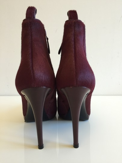 Balenciaga Pony Fall Red Burgundy Boots