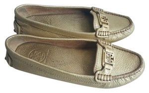 Tory Burch Moccassins Gold Flats