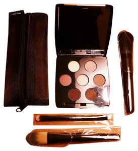 SALE!!! NEW LANCOME Eye-shadow Palette & Make-up Brushes Travel Kit