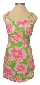 Lilly Pulitzer short dress Lime green and pink on Tradesy