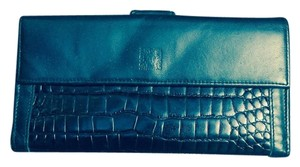 Anne Klein Anne Klein. Leather. Vintage Wallet. Alligator Alley Collection. Black