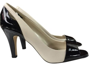 Anne Klein Classic Patent Leather Black/White Pumps