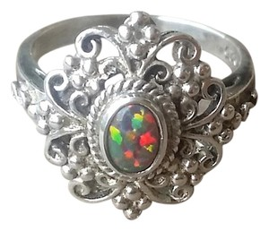 Other Sterling Silver Opal Ring