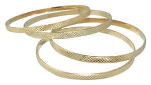 Other Rigid Diamond Cut Golden Touch Thin Bangles (4pcs)