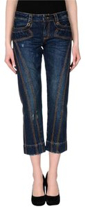 Just Cavalli Denim Capri Cropped Capri/Cropped Denim-Dark Rinse