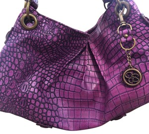 Jessica Simpson Satchel in Purple Croc Print