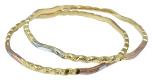 Other Tri-Color Thin Textured Diamond Cut Bangles (2pcs) - item med img