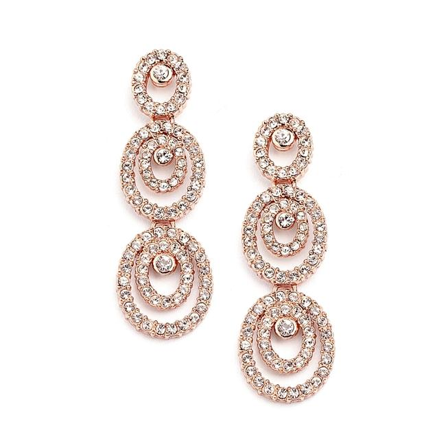 Mariell Rose Gold Concentric Ovals with Cubic Zirconia 4066e-rg Earrings Mariell Rose Gold Concentric Ovals with Cubic Zirconia 4066e-rg Earrings Image 1