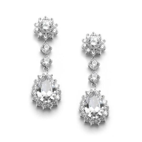 Preload https://img-static.tradesy.com/item/19758504/mariell-silver-cubic-zirconia-or-bridesmaids-dangle-with-cz-frame-4041e-earrings-0-0-540-540.jpg