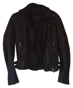 AllSaints Leather Rare Moto Quilted Leather Jacket